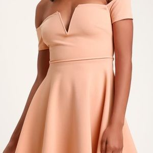 BRAND NEW WITH TAGS LULUS OFF THE SHOULDER DRESS